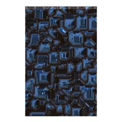 Metalart 23 Blue Shower Curtain 48  X 72  (small)