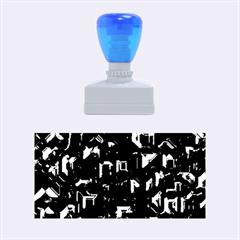 Metalart 23 Blue Rubber Stamps (Medium)