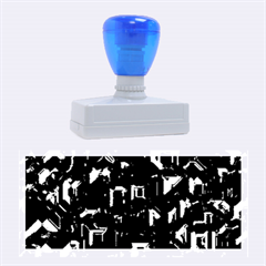 Metalart 23 Blue Rubber Stamps (Large)