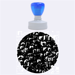 Metalart 23 Blue Rubber Round Stamps (Large)