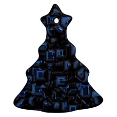 Metalart 23 Blue Christmas Tree Ornament (2 Sides)