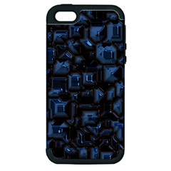 Metalart 23 Blue Apple iPhone 5 Hardshell Case (PC+Silicone)