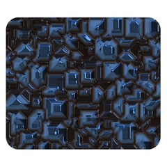 Metalart 23 Blue Double Sided Flano Blanket (Small)