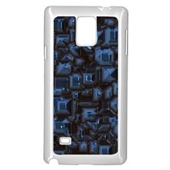 Metalart 23 Blue Samsung Galaxy Note 4 Case (white)