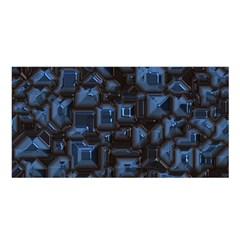 Metalart 23 Blue Satin Shawl