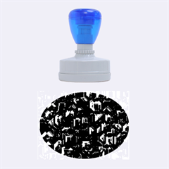 Metalart 23 Blue Rubber Oval Stamps
