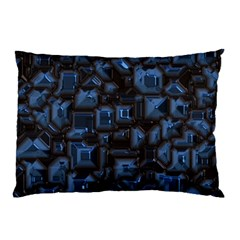Metalart 23 Blue Pillow Cases (Two Sides)