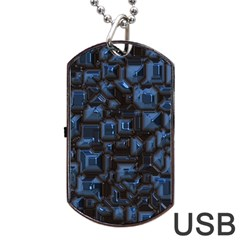 Metalart 23 Blue Dog Tag USB Flash (One Side)