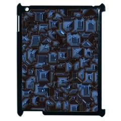 Metalart 23 Blue Apple iPad 2 Case (Black)