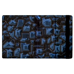 Metalart 23 Blue Apple iPad 3/4 Flip Case