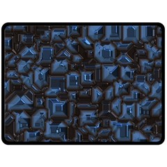 Metalart 23 Blue Double Sided Fleece Blanket (large)