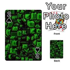 Metalart 23 Green Playing Cards 54 Designs