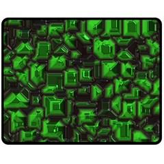 Metalart 23 Green Fleece Blanket (Medium)