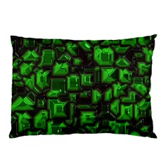 Metalart 23 Green Pillow Cases (Two Sides)