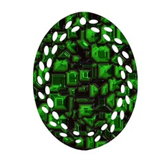 Metalart 23 Green Ornament (oval Filigree)