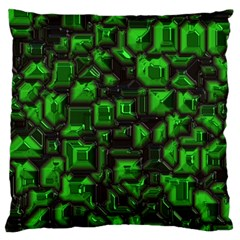 Metalart 23 Green Large Cushion Cases (One Side)