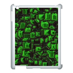 Metalart 23 Green Apple iPad 3/4 Case (White)