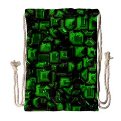 Metalart 23 Green Drawstring Bag (Large)