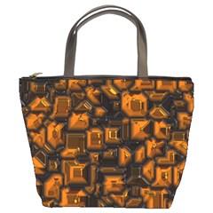 Metalart 23 Orange Bucket Bags