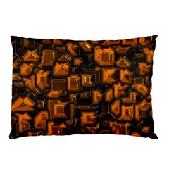 Metalart 23 Orange Pillow Cases