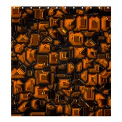 Metalart 23 Orange Shower Curtain 66  X 72  (large)
