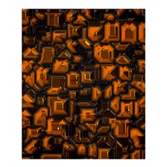 Metalart 23 Orange Shower Curtain 60  x 72  (Medium)