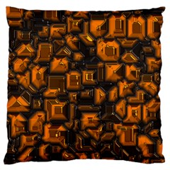 Metalart 23 Orange Large Cushion Cases (Two Sides)