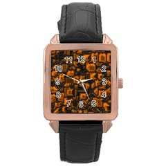 Metalart 23 Orange Rose Gold Watches