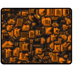 Metalart 23 Orange Double Sided Fleece Blanket (Medium)