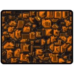 Metalart 23 Orange Double Sided Fleece Blanket (Large)