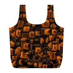 Metalart 23 Orange Full Print Recycle Bags (L)