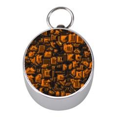 Metalart 23 Orange Mini Silver Compasses