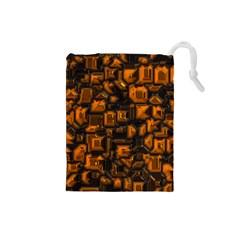 Metalart 23 Orange Drawstring Pouches (Small)