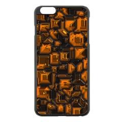 Metalart 23 Orange Apple iPhone 6 Plus Black Enamel Case