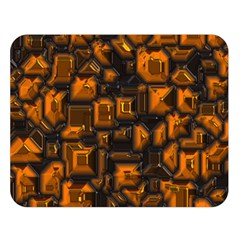 Metalart 23 Orange Double Sided Flano Blanket (Large)
