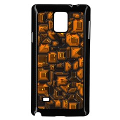 Metalart 23 Orange Samsung Galaxy Note 4 Case (black)