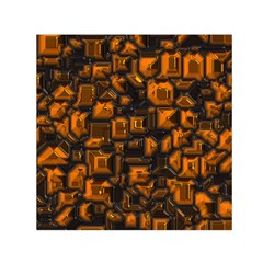 Metalart 23 Orange Small Satin Scarf (square)
