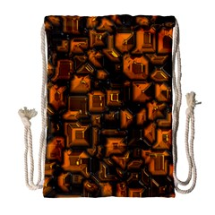 Metalart 23 Orange Drawstring Bag (Large)