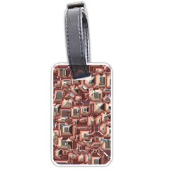Metalart 23 Peach Luggage Tags (Two Sides)