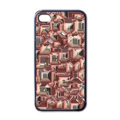 Metalart 23 Peach Apple iPhone 4 Case (Black)
