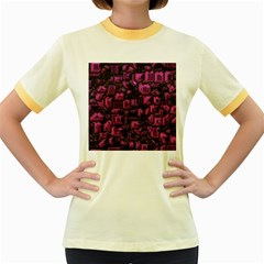 Metalart 23 Pink Women s Fitted Ringer T Shirts