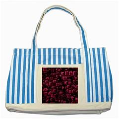 Metalart 23 Pink Striped Blue Tote Bag