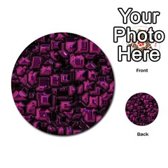 Metalart 23 Pink Multi-purpose Cards (Round)