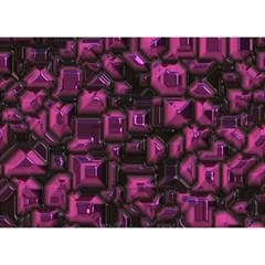 Metalart 23 Pink Birthday Cake 3D Greeting Card (7x5)