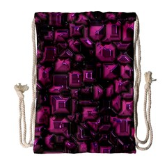 Metalart 23 Pink Drawstring Bag (Large)