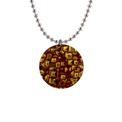 Metalart 23 Red Yellow Button Necklaces