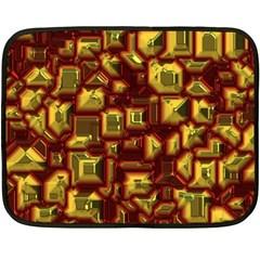 Metalart 23 Red Yellow Fleece Blanket (Mini)