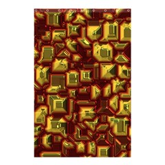 Metalart 23 Red Yellow Shower Curtain 48  X 72  (small)
