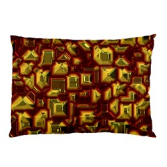 Metalart 23 Red Yellow Pillow Cases (Two Sides)