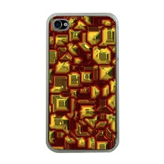 Metalart 23 Red Yellow Apple iPhone 4 Case (Clear)